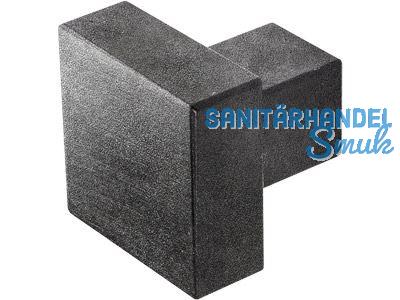 Möbelknopf 20x20 mm eckig schwarz passiviert