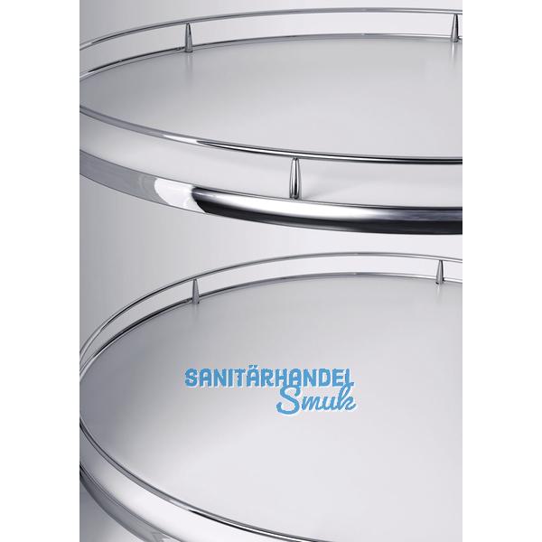 VAUTH-SAGEL RECORNER MAXX Eckschrank Drehbeschlag, KB 800 mm, Holz weiß/verchr.
