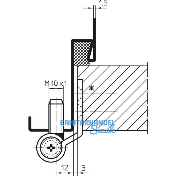 t rband vn 3749 m10 x 1 f stumpfe t ren bandh 95 mm edelstahl matt sanit rhandel smuk. Black Bedroom Furniture Sets. Home Design Ideas